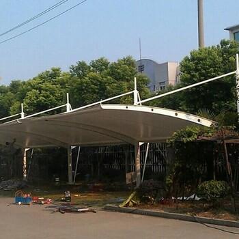 随州市水厂景观遮阳棚膜结构,加油站防火屋顶膜结构设计施工
