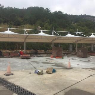 随州市水厂景观遮阳棚膜结构,加油站防火屋顶膜结构设计施工图片3