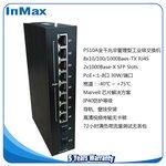 金恒威inmax2光8电全千兆非管理型PoE工业以太网交换机工业级PoE交换机