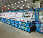 牛奶酸奶风幕柜冷藏,什么牌子的立风柜好,徽点品牌生鲜冷柜