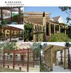 厂家佛山定制花架直销防腐木葡萄架户外实木廊架棚架园林景观门架凉亭架