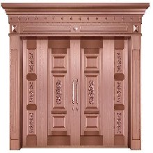 河北区定制铜门安装豪华别墅铜门美观得体图片