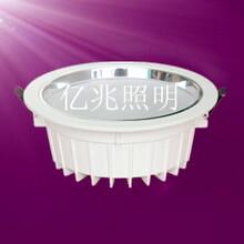 8寸白色一体化筒灯贴片24w室内照明灯具图片