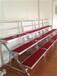 厂家直销三层四层学校儿童铝合金移动折叠合唱台钢铁折叠合唱台
