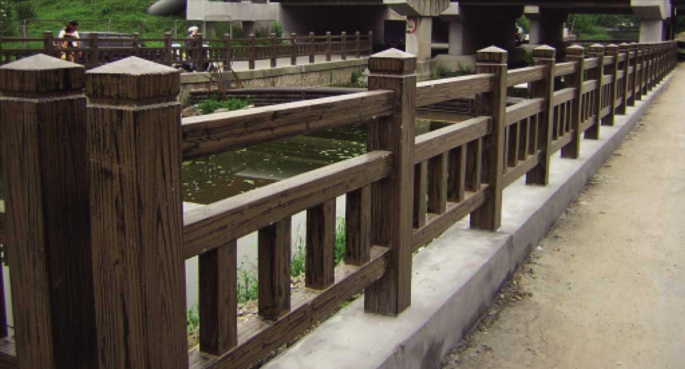 水泥仿木护栏水泥仿木栏杆供应商