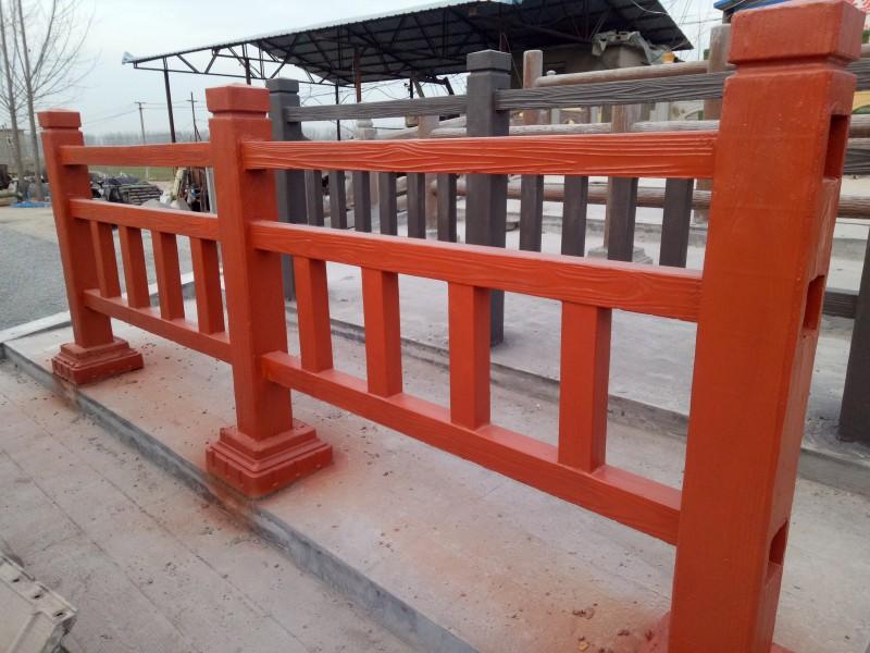 仿木栏杆批发定制混凝土仿树皮护栏