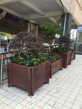 钢筋混凝土水泥仿木垃圾箱仿木花箱防腐木花盆图片