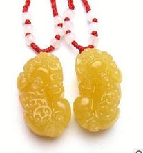天津厂家大量直销米黄玉挂件精美饰品保健礼品图片