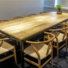 实木洽谈桌简约现代实木会议桌电脑桌培训桌洽谈老板经理办公桌