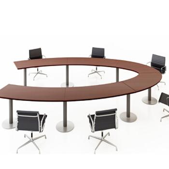 辦公家具大型會議桌開會培訓桌洽談桌板式會議桌4500mm2800mm760H不帶擋板