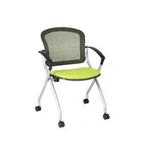 透气网布培训椅,职员会议椅,四角钢架办公椅子,座椅洽谈椅图片