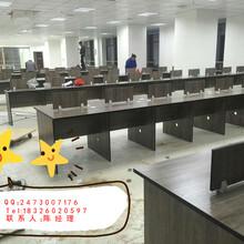 合肥簡約現代辦公桌組合員工位卡座職員辦公桌椅廠家直銷圖片