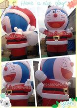 圣诞节商场美陈布置道具充气机器猫卡通气模