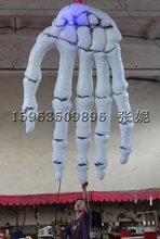 万圣节装饰道具充气骷髅手气模万圣节鬼节大型门头装饰用品道具