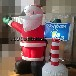 圣诞老人拿站牌气模厂家定制充气圣诞节装饰道具