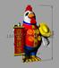 鸡年充气卡通气模公仔烟台气模定制充气卡通小鸡气模