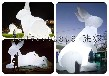 充气发光玉兔子气模中秋节室外美陈布置道具大型兔子模型
