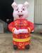 充气猪年气模2019猪年装饰充气猪卡通商场美陈猪一家卡通气模