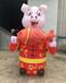 商场房产景区春节装饰充气猪年猪卡通气模2019新年春节布置道具