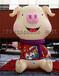 布置道具金猪气模传统风格布置发财猪卡通猪头美陈定制