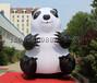 高端定制充气熊猫气模固定卡通熊猫气模充气美陈装饰道具