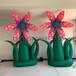充气花朵气模装置艺术作品花盆盆景气模商业美陈装饰展览布置
