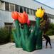 充气郁金香花朵气模商业美陈装饰植物园公园户外景观街道布置