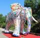 仿真大象卡通氣模美陳展覽充氣卡通仿真象商場布置動物主題氣模