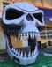 亡灵节布置充气恐怖骷髅头气模夜场酒吧万圣节派对音乐节舞台特效