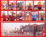 2020鼠年美陈春节商场酒店老鼠迎宾对联装饰气模充气老鼠