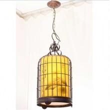 复古中式鸟笼吊灯铁艺鸟笼吊灯复古鸟笼灯