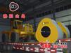 工地上压实路面时最成器的压路机----洛阳山岛冲击式压路机