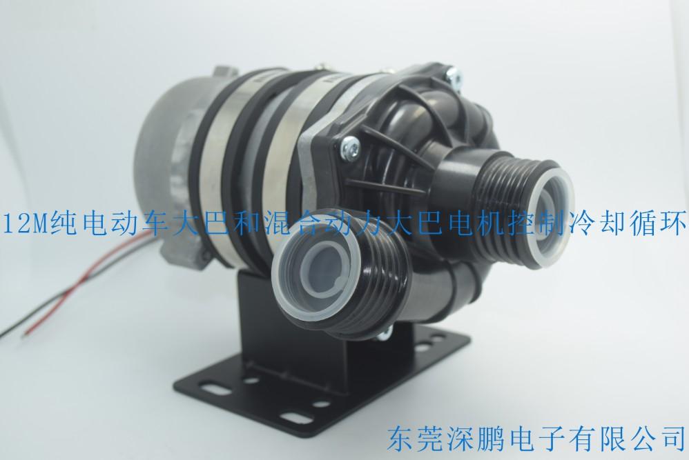 深鹏供应新能源汽车电子泵,48V混合动力汽车泵,48V电动车水泵高清图片