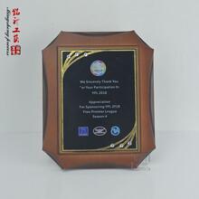 外貿公司答謝客戶獎牌外企聯盟會木質紀念牌廠家定做圖片