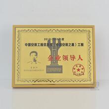 工程立功表彰牌建筑領導人榮譽獎牌彩繪鍍金木質牌匾圖片