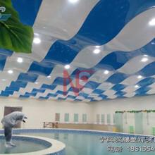 防潮柔性天花游泳馆吊顶设计图片