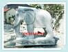 2米高山東石頭象制作公司單位擺放石象價格