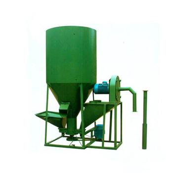 飼料加工設備1000型立式飼料機粉碎混合一體雞飼料攪拌機