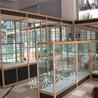 钛合金玻璃展柜立柱灯箱展柜西安世杰展柜定做设计