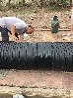 管道补口热收缩套开口套焊接口防腐热缩套Φ168-1219