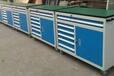 济南浦丰柜业浦丰钳工工作台防静电工作台工作桌抽屉式工具柜可移动工具车成品安全可靠