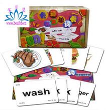 儿童3-6岁识字卡片认字看图英语单词卡片杜曼卡通英语单词卡杜曼字母卡杜曼识字卡