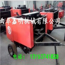 阜阳农用秸秆打捆机图圆型秸秆打捆机秸秆捡拾捆草机作业视频图片