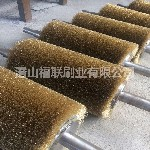 饰面板拉丝机不锈钢丝辊刷贴面板表面抛光打磨钢丝毛刷辊厂家