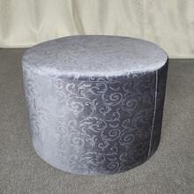 厂家直销SP-ES127沙发小户型单人布艺客厅酒店咖啡厅围椅布艺凳子圆形换鞋凳上品家具有限公司