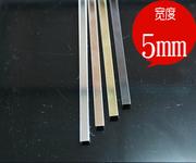 装饰线条_u形不锈钢收边条u型槽包边条钛金装饰背景墙门框包边条-...图片