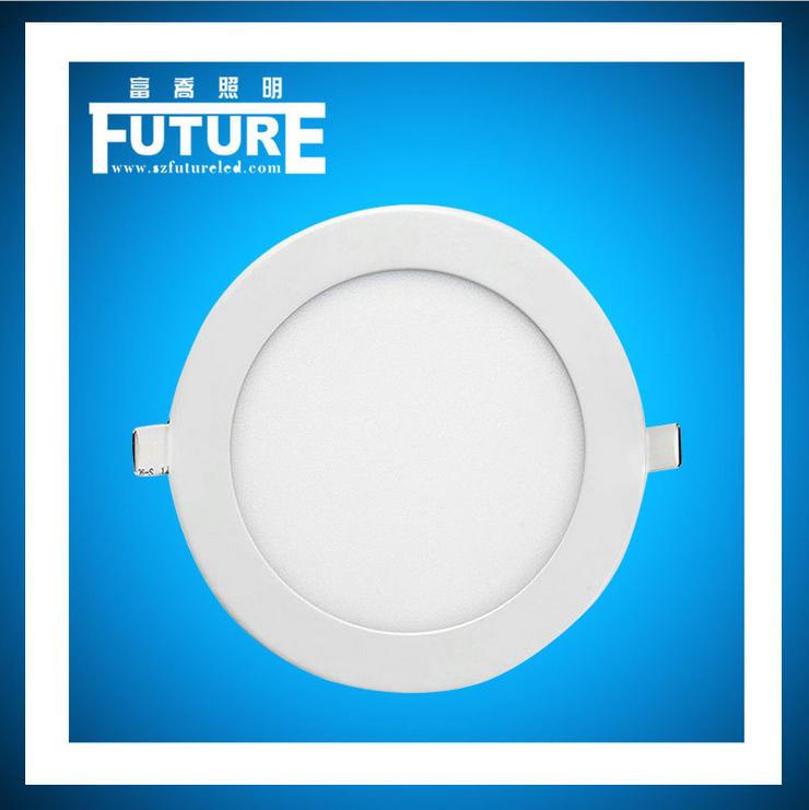 厂家供应薄款筒灯LED面板灯圆形吸顶灯LED节能面板灯方形厨卫嵌入式天花LED筒灯