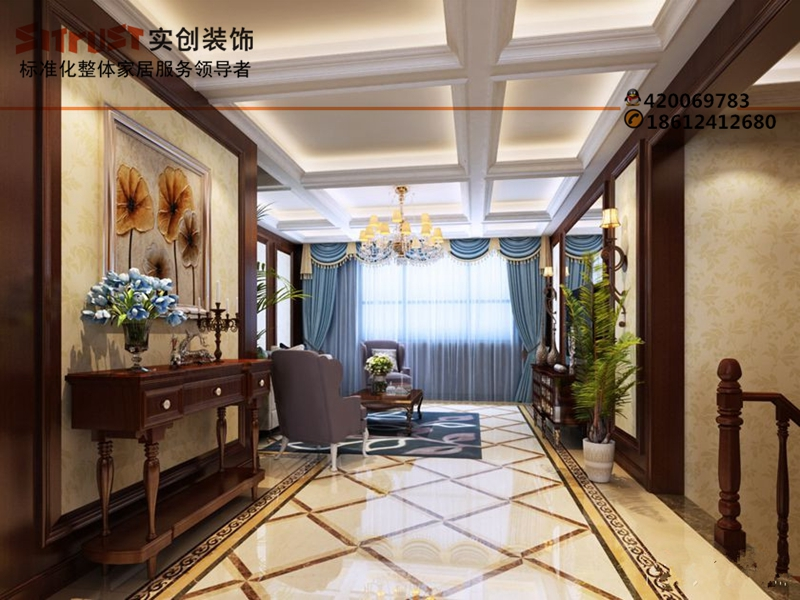 别墅装修实创装饰设计千章墅250平诠释欧式古典风