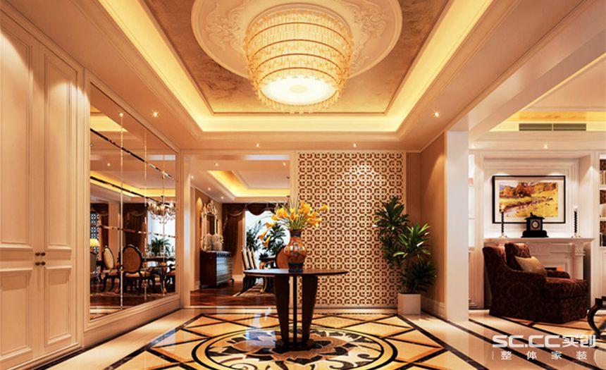 实创装饰别墅装修东海花园320平法式浪漫风格效果图