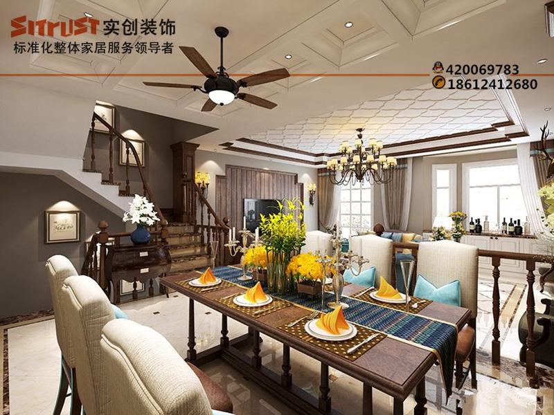混搭设计元素实创装饰缔造360平别墅高端品位生活